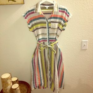 Time and Tru Belted Linen Dress